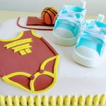 Basketball Cake - Baby Shower
